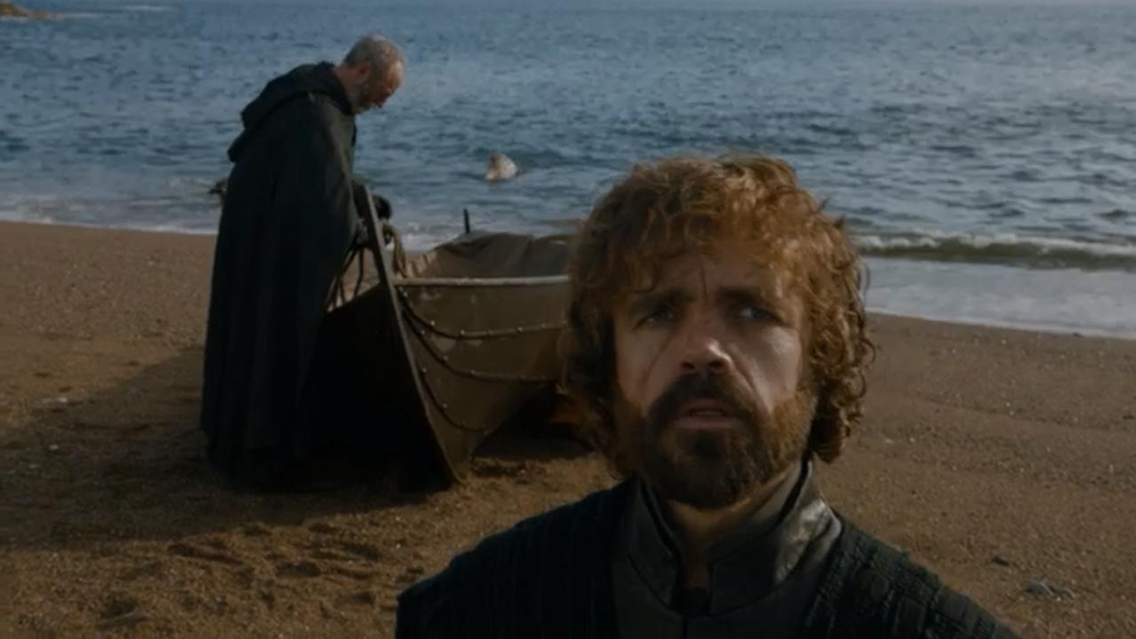 Ser Davos y Tyrion en el episodio 7x05 de Juego de Tronos