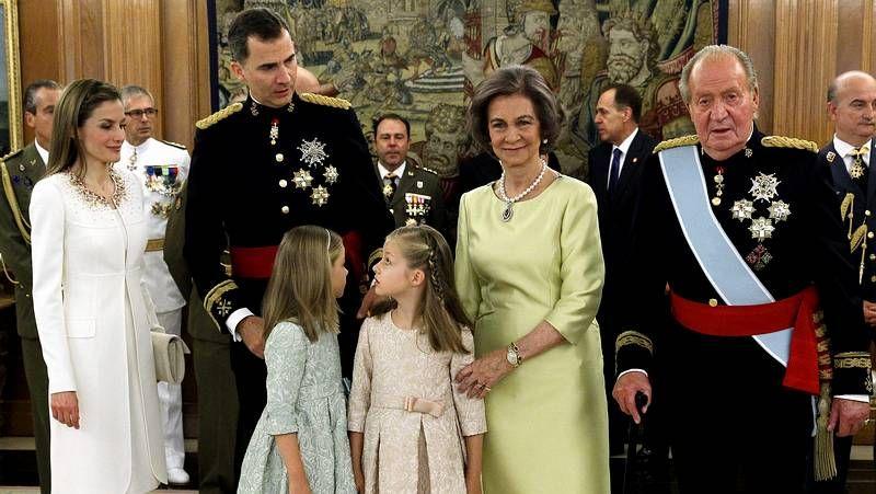 Felipe VI y Juan Carlos I en La Zarzuela