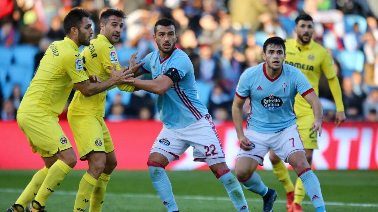 El Celta - Villarreal en imágenes.Guidetti. Delantero
