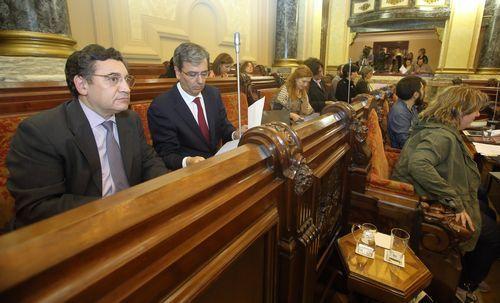 Dapena en el pleno municipal de A Coruña