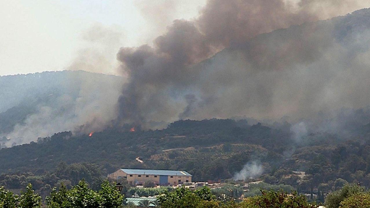 Extensión del incendio declarado en Almorox, Toledo