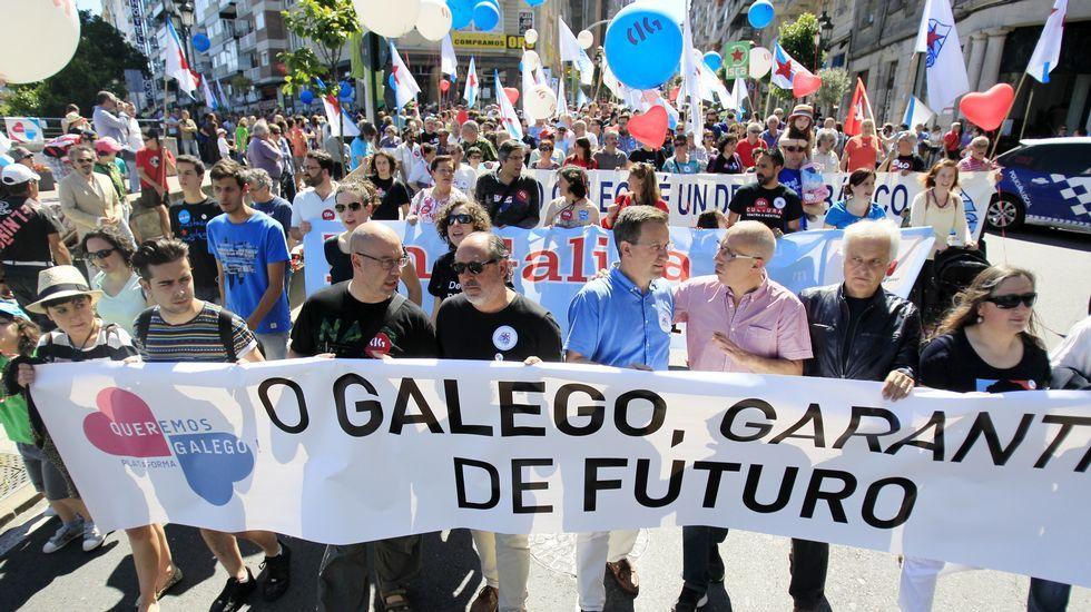 Manifestación de Queremos Galego en Vigo.