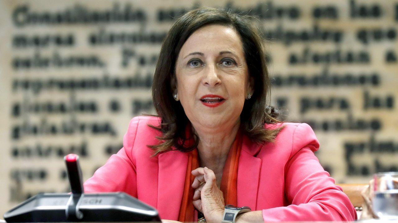 Margarita Robles, durante la comparecencia en la Comisión de Defensa del Senado