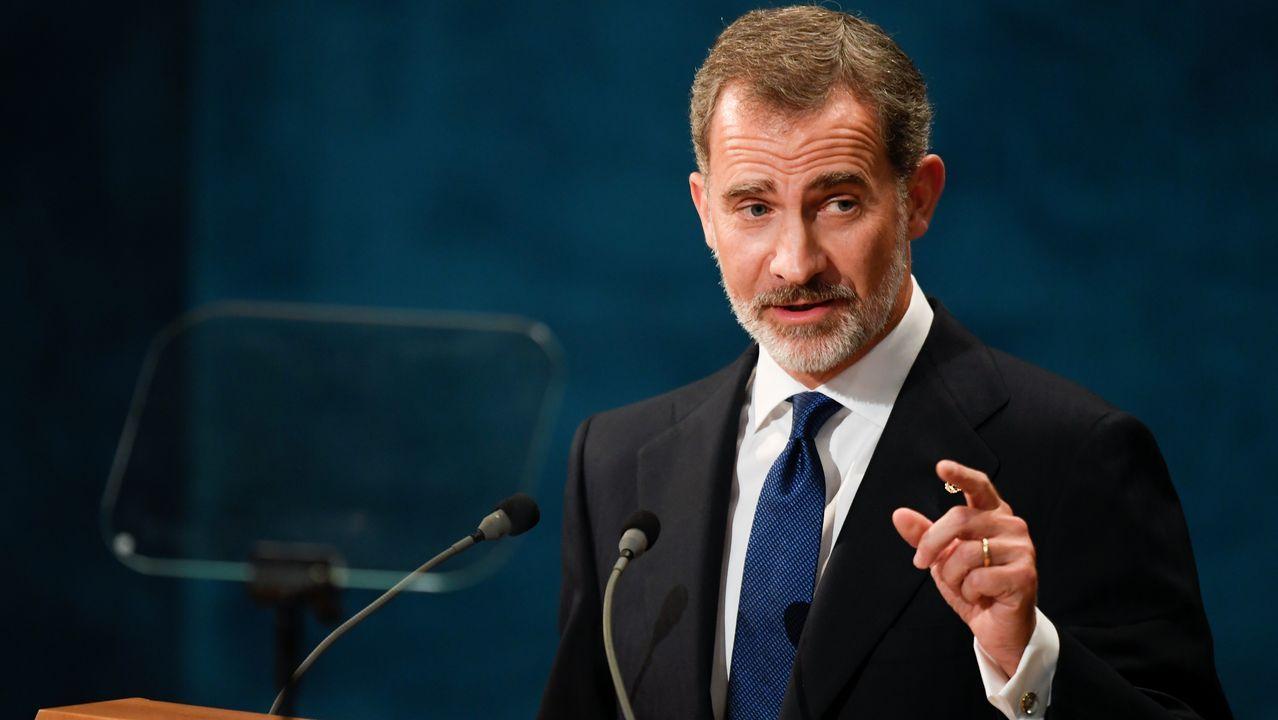 Entrega de los Premios Princesa de Asturias.El rey Felipe pronuncia su discurso en la ceremonia de entrega de los Premios Princesa de Asturias 2019,