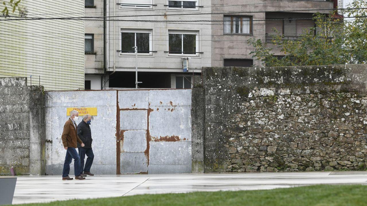Las instalacionesdel Arquivo do Reino y del Arquivo de Galicia.Los ciclistas no podrán circular por la futura senda