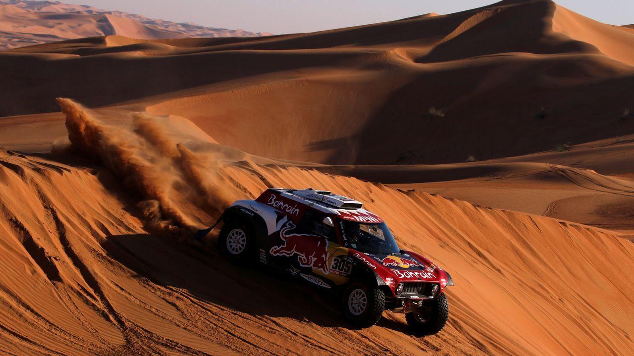 Así fue el Dakar 2020 a través del objetivo del poleso Charly López.Fernando Alonso, tras el accidente en la décima etapa del Dakar 2020