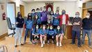 Las futbolistas fueron homenajeadas por su segunda clasificación en el campeonato Local Galicia Sénior