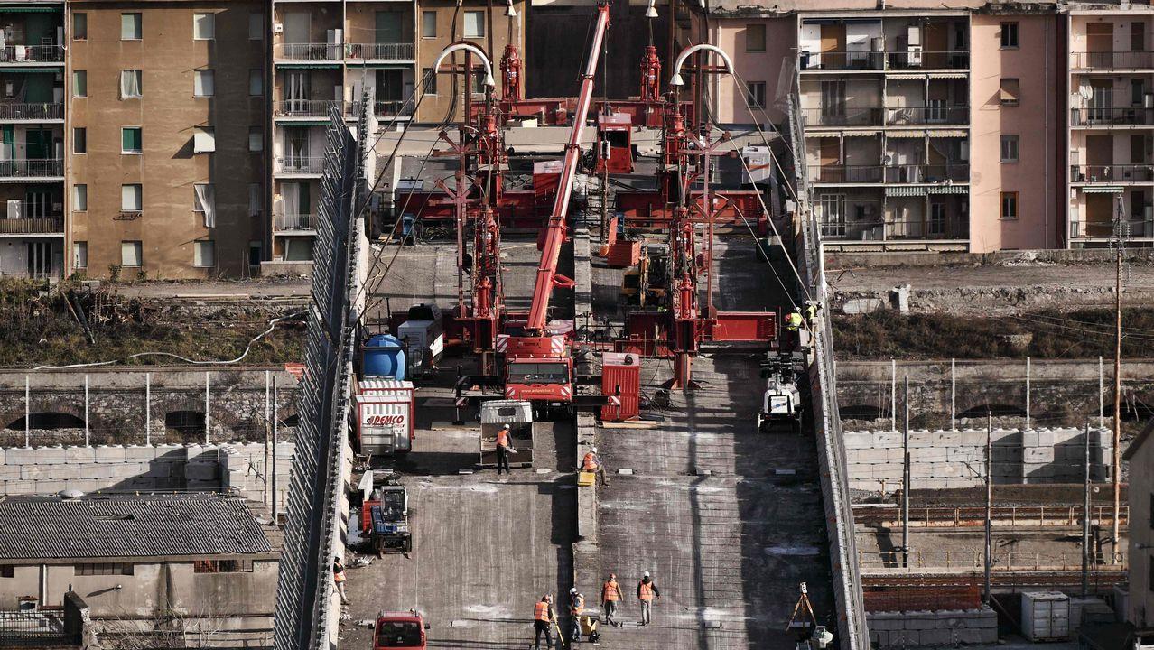 Comienza la demolición del puente Morandi a los seis meses de su derrumbe.El fundador de Asturfeito, Belarmino Feito, atiende a los medios tras ser elegido hoy nuevo presidente de la Federación Asturiana de Empresarios (FADE)