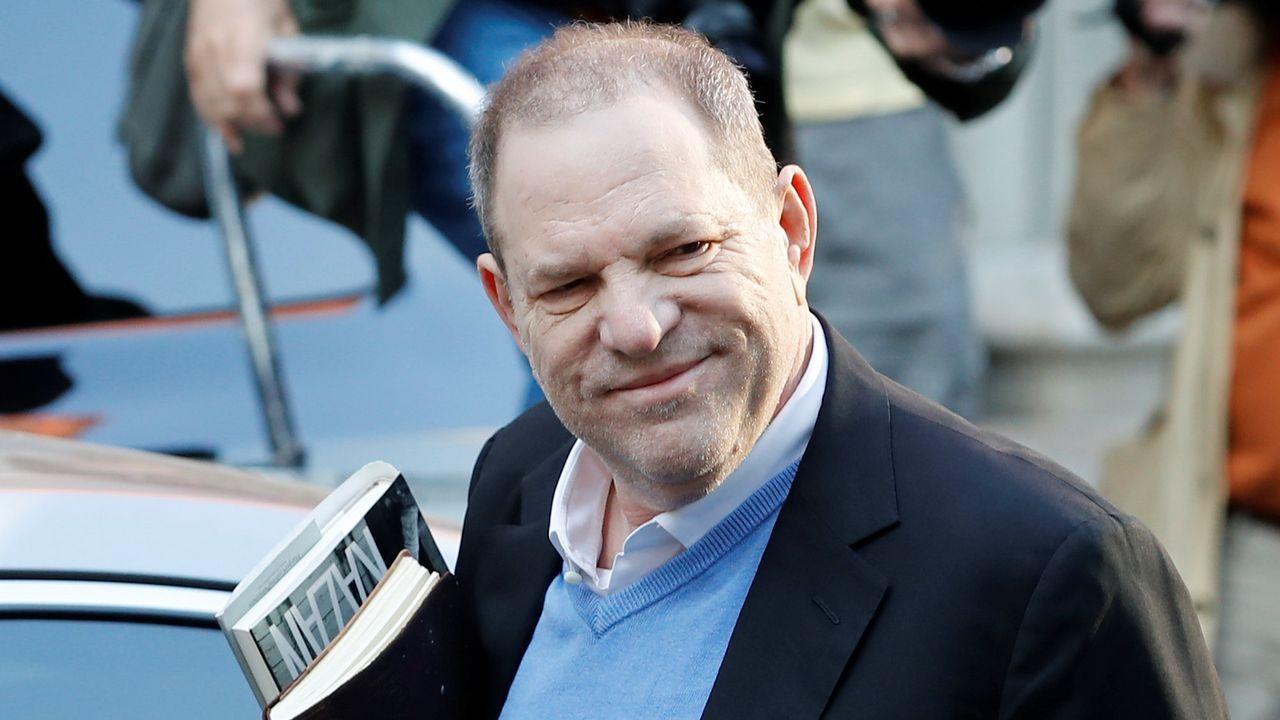 La llegada de Harvey Weinsten a la comisaría de Nueva York