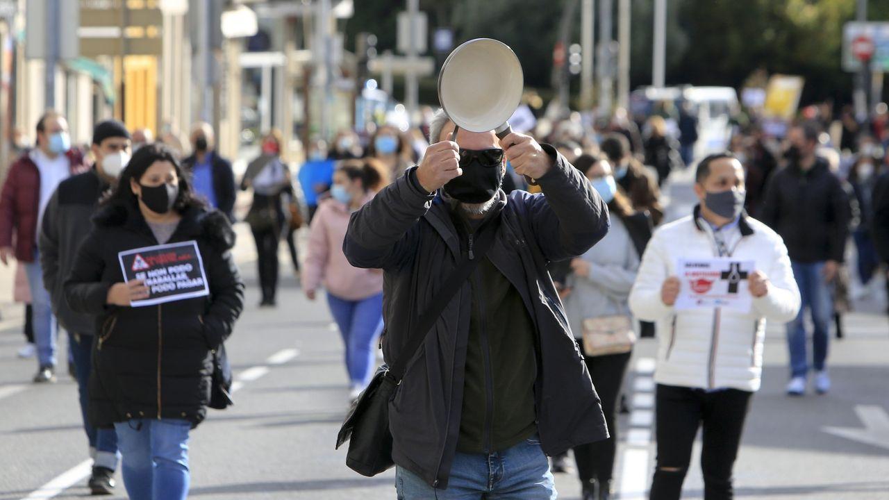 Los hosteleros, en las calles de Lugo
