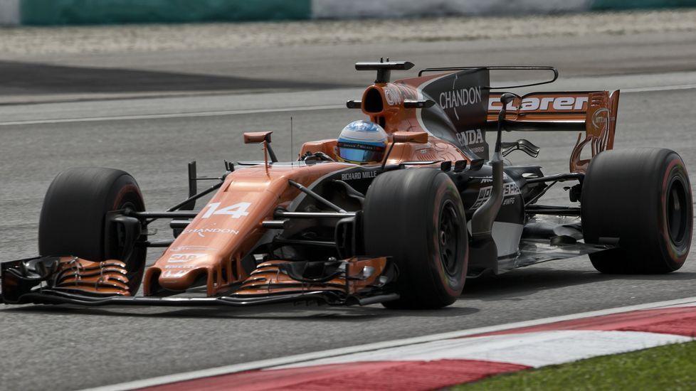 Fernando Alonso, durante la segunda ronda clasificatoria para el Gran Premio de Malasia