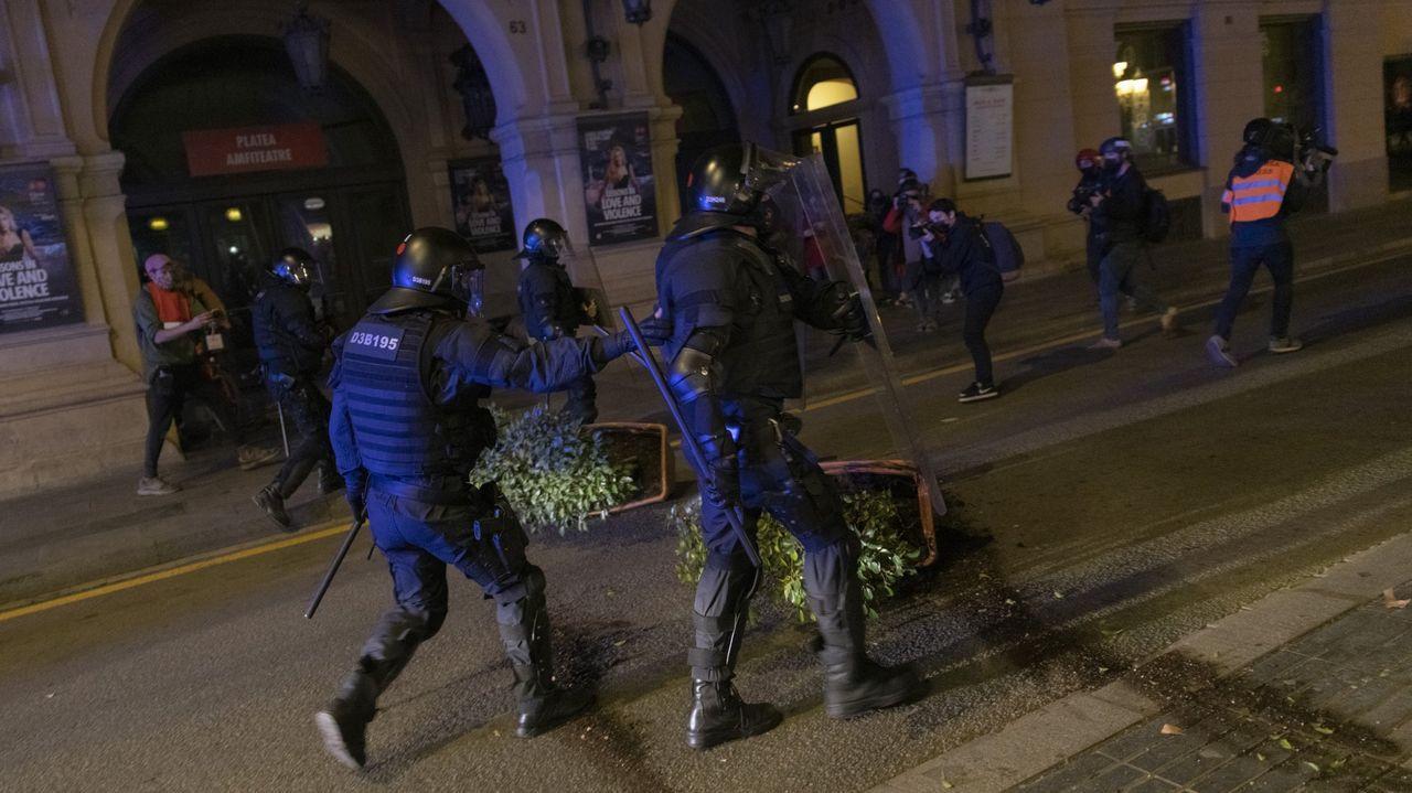 Imagen de las calles de Barcelona durante los disturbios