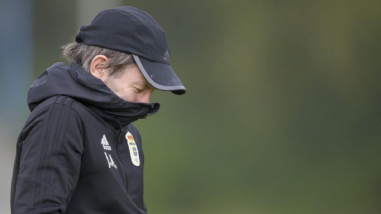 Lopez Toca Rocha Real Oviedo Sporting Carlos Tartiere Derbi.Anquela en El Requexón