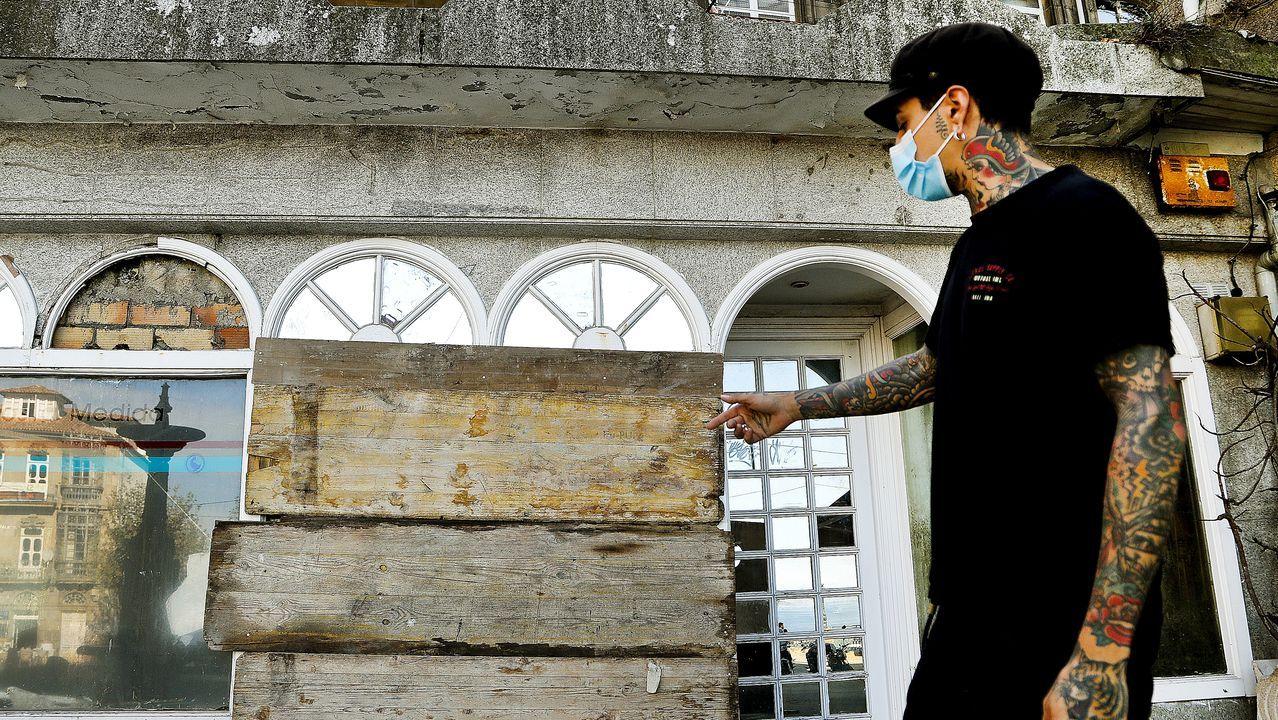 Local del Concello de Vigo tapiado para evitar la entrada de más okupas