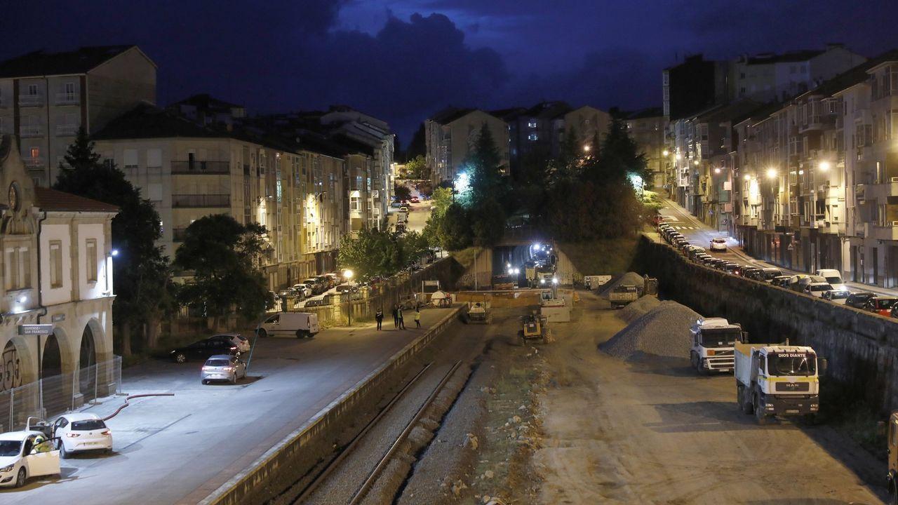 Obras en el túnel de San Francisco en Ourense