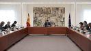 Una reunión del comité tecnico del covid-19 presidida por Pedro Sánchez en La Moncloa