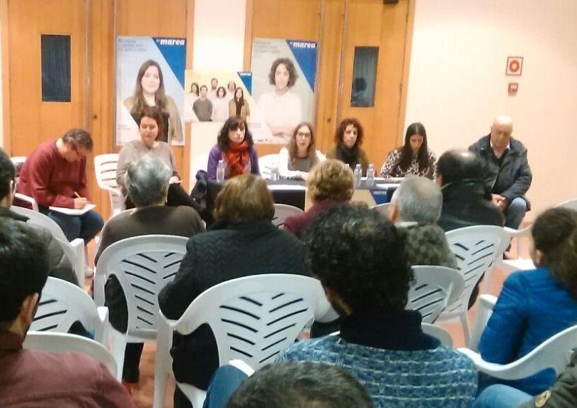 AP-9: ¿Un peaje eterno?.Candidatos de En Marea participaron en un mitin en A Estrada.