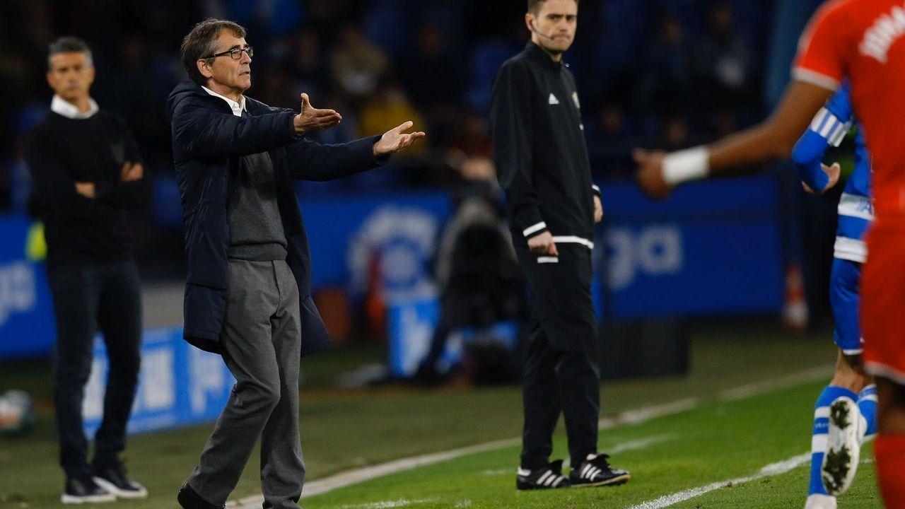 Entrevista íntegra a Fernando Vázquez: «Mi carrera estuvo mal dirigida».Bóveda y Mollejo festejan el primer gol frente al Girona