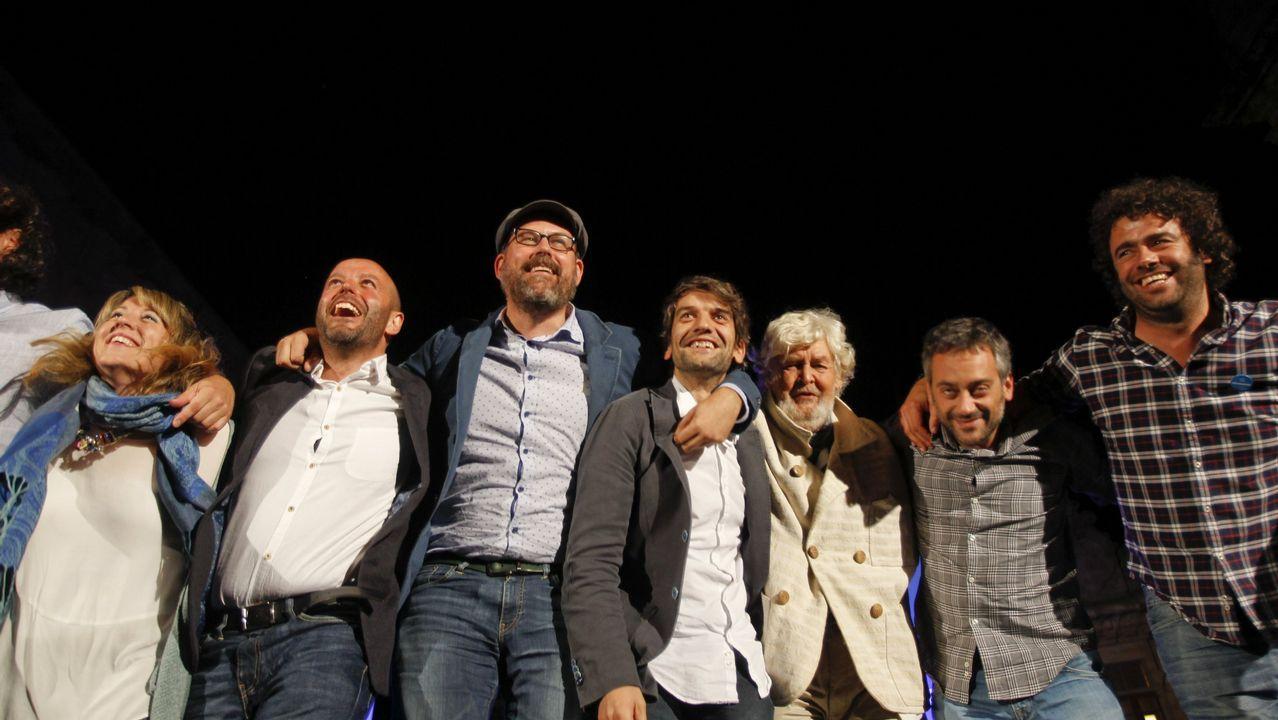 El poder institucional de En Marea.Imagen de Beiras del 2012, en la Asamblea de Amio