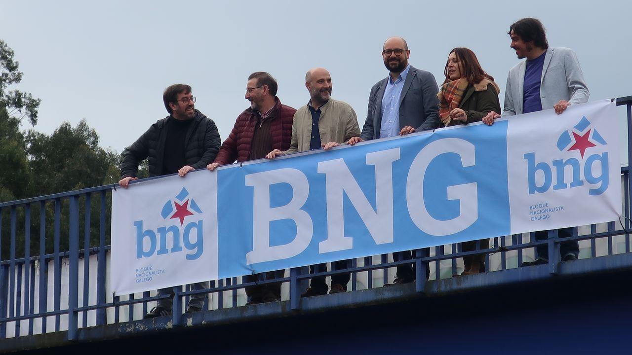 «Ana Pontón quere dicirche algo».Los alcaldes de Ferrol, Jorge Suárez, y Santiago, Martiño Noriega