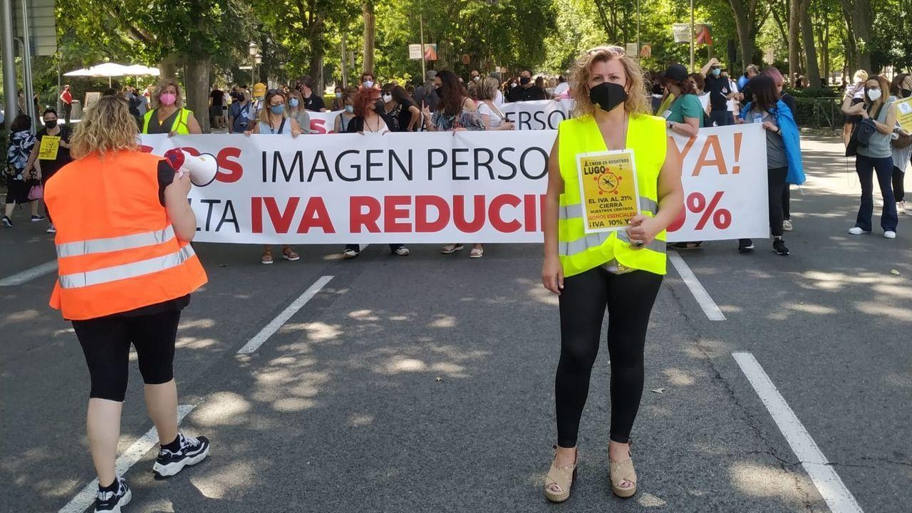 La viveirense Ángeles Salgueiro, en la manifestación de Madrid