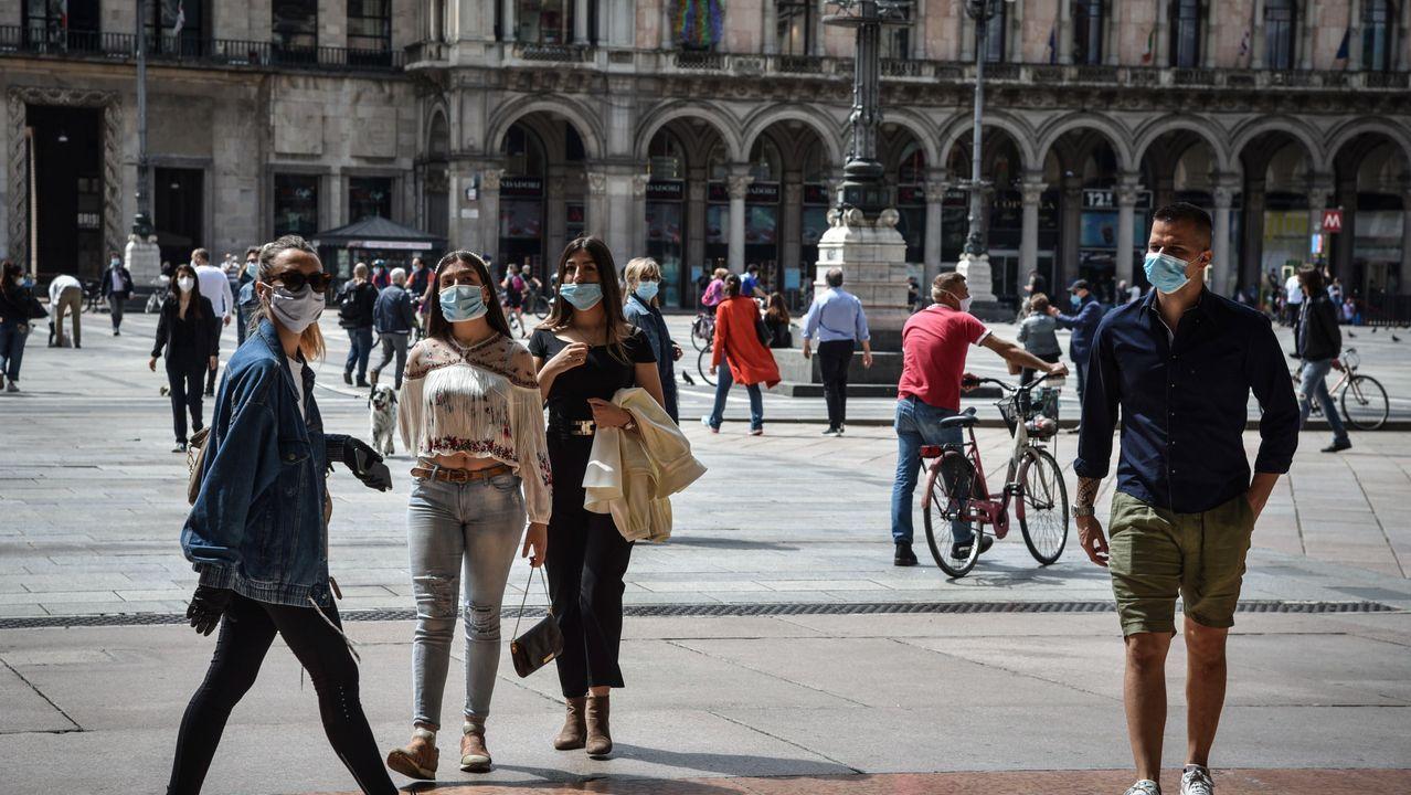Poco a poco, ciudades como Milán retoman el pulso a la vida normal