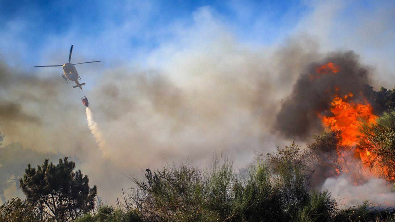 Imagen de archivo de un incendio intencionado en Entrecruces
