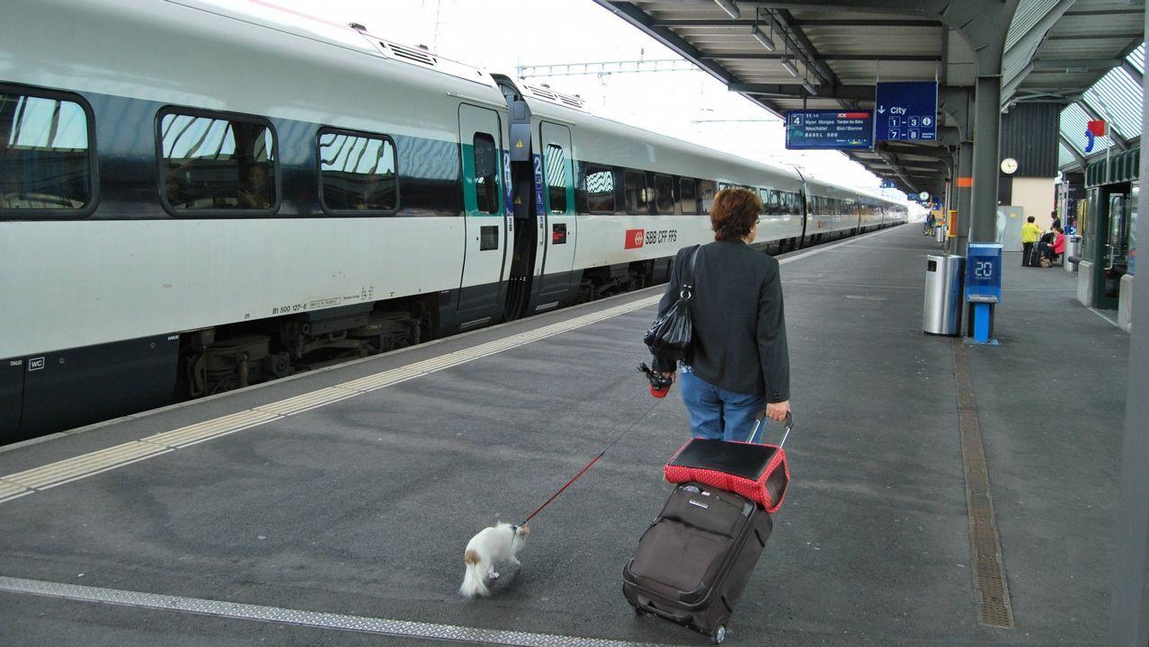 Estación de Cornavin, mítico punto de entrada en Suiza de los emigrantes gallegos.