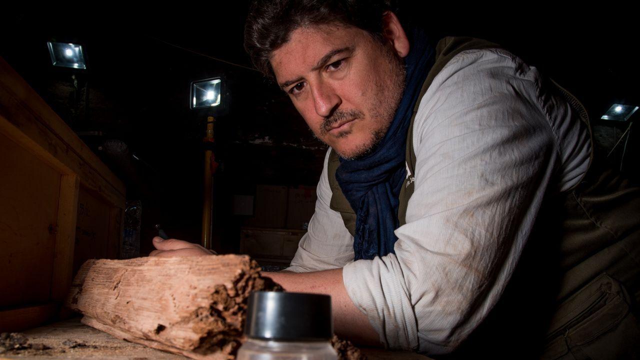 Antonio Morales, en una fotografía tomada durante una de sus estancias de trabajo en Deir el-Bahari, en Luxor