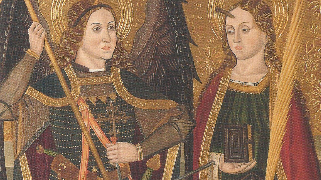 Fragmento de «San Miguel y Santa Engracia», de Juan de la Abadía