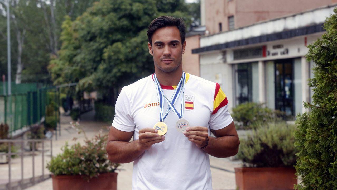Rodrigo Germade, oro y plata en el último mundial, a su llegada a Racice