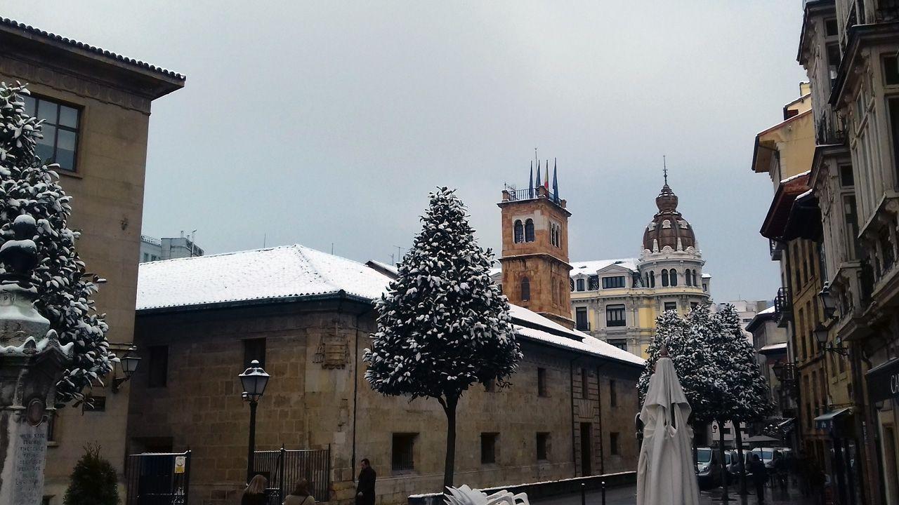 Nieve en Oviedo.La nieve en la Universidad de Oviedo