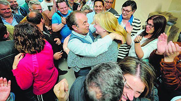 José Crespo celebra los once ediles obtenidos el domingo