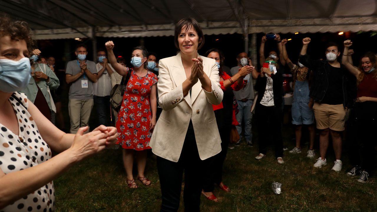 Ana Pontón, exultante tras el resultado del BNG