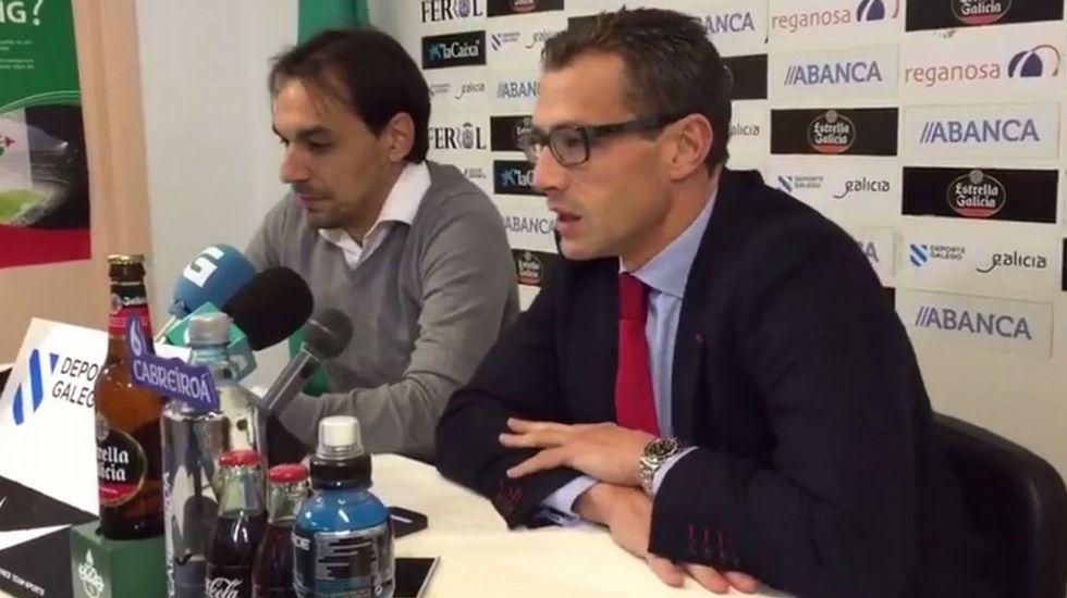 Presentación de Tena como nuevo entrenador del Racing de Ferrol