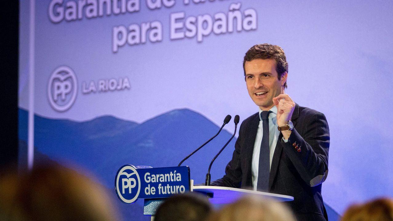Casado asegura que el PP es la única fuerza moderada para defender la unidad de España