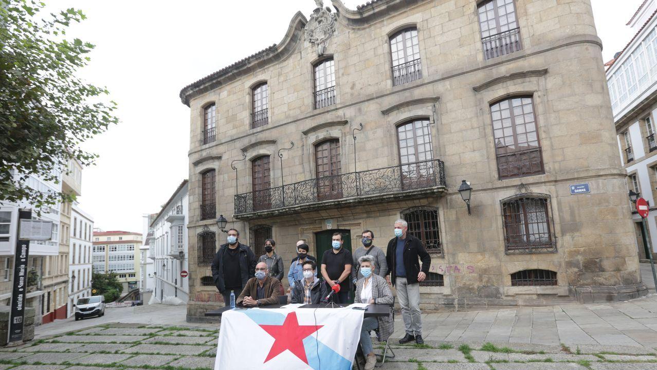Imagen de archivo de Avia Veira y Francisco Jorquera entrando a un pleno