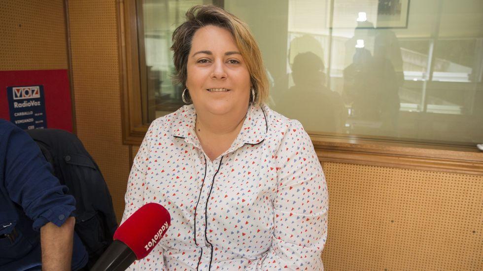 Sandra Vilela, en una visita a Radio Voz, antes de la pandemia