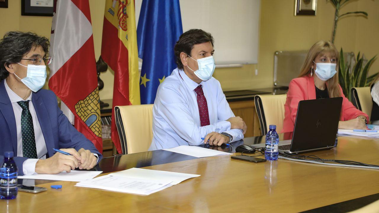 El consejero de Economia y Hacienda de Castilla y León, Fernández Carciedo, en el Consejo de Política Fiscal y Financiera celebrado telemáticamente este lunes