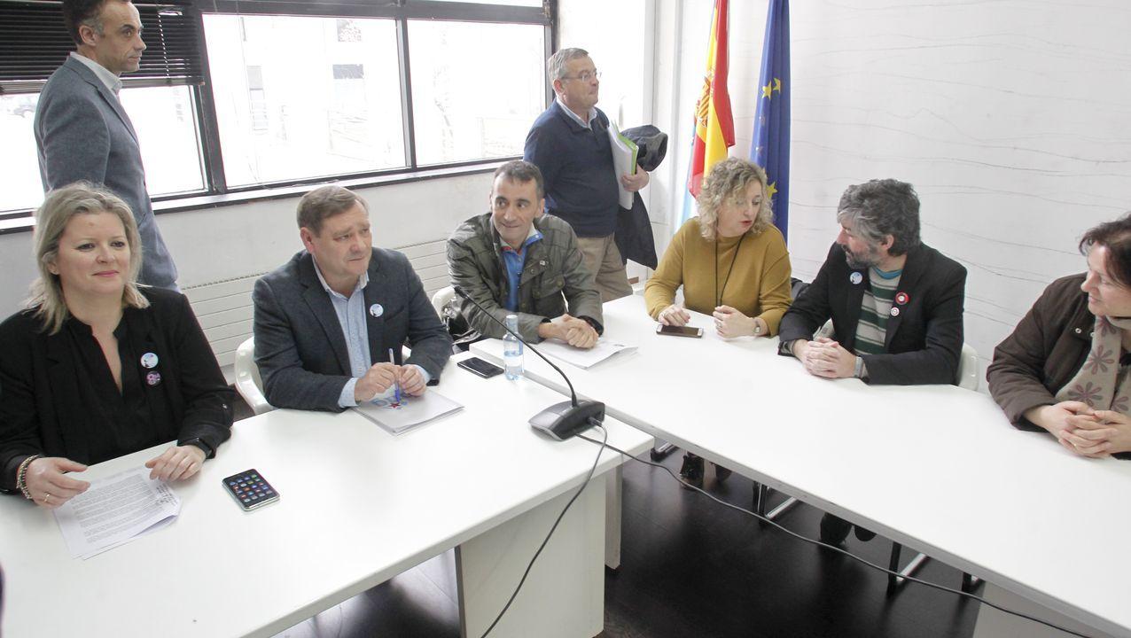 Más unidad, más Unidas Podemos.La diputada del PP Beatriz Polledo intervierne en el pleno de la Junta General
