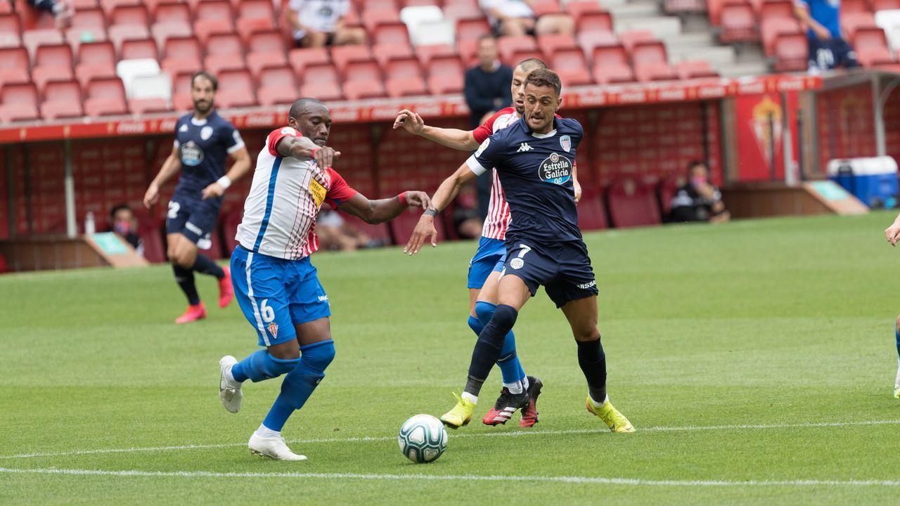 Partido en el Molinón entre el Sporting y el Lugo