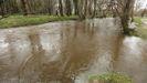 Las inversiones para evitar inundaciones en el Anllóns, como esta de estos días, se llevan casi medio millón de euros.