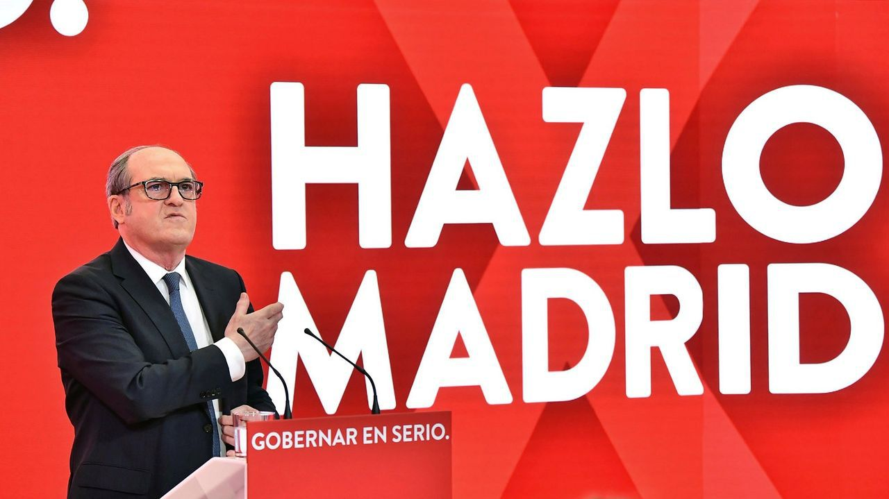 Ángel Gabilondo en la presentación del lema de campaña 'Hazlo por Madrid'.