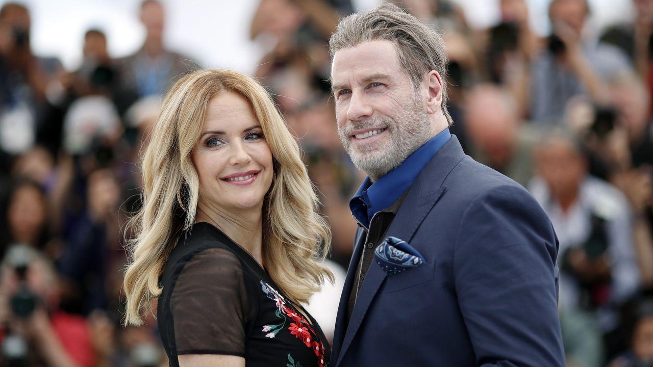 Kelly Preston y John Travolta, juntos en el festival de Cannes del 2018
