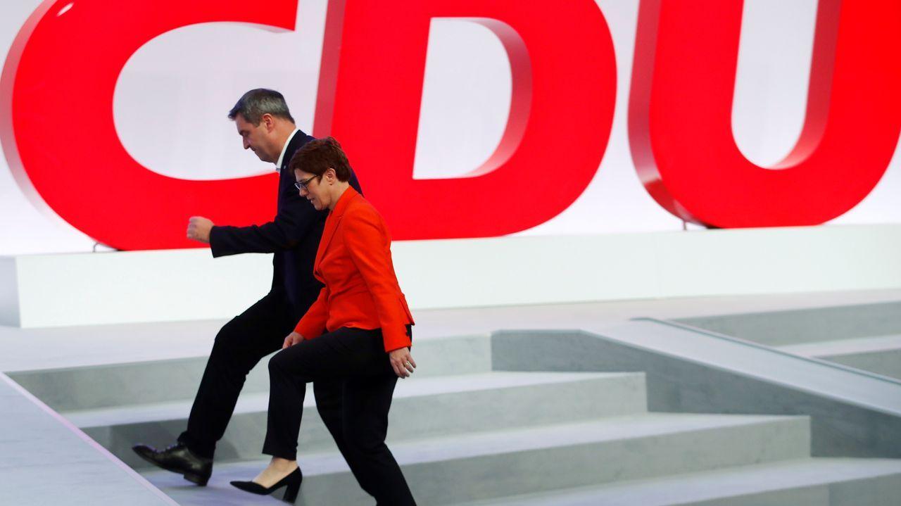 Merkel defendió la gestión de la coalición de gobierno  y expresó su compromiso de llevar la legislatura a buen término