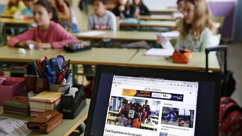 Muchos colegios incluyen entre los actos de la Semana de la Prensa en la Escuela la visita de algún periodista que participa en una charla sobre la profesión con los alumnos