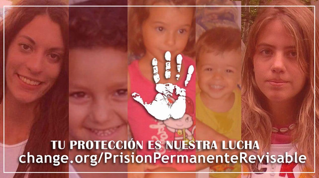 Los casos con jurado popular más polémicos.Ruth Ortiz, madre de Ruth y José, primera por la izquierda, junto a otras victimas en la concentración de Huelva