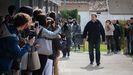 unqueras, a su llegada a la Universidad de Vic a principios de marzo desde la prisión de Lledoners