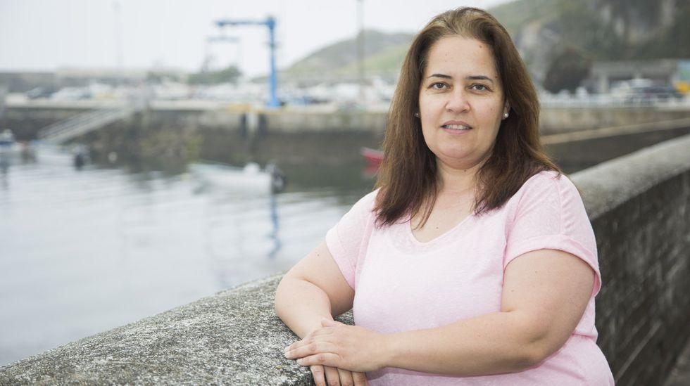 Eva Vidal Doldán, a principios del pasado junio, en su Corme natal