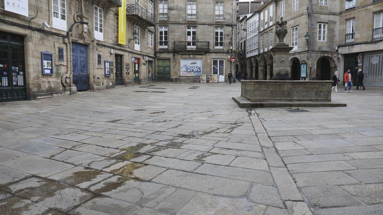 Edificios de la calle Luis de Requesens, en Caranza, donde se han vendido dos de los pisos que oferta Defensa